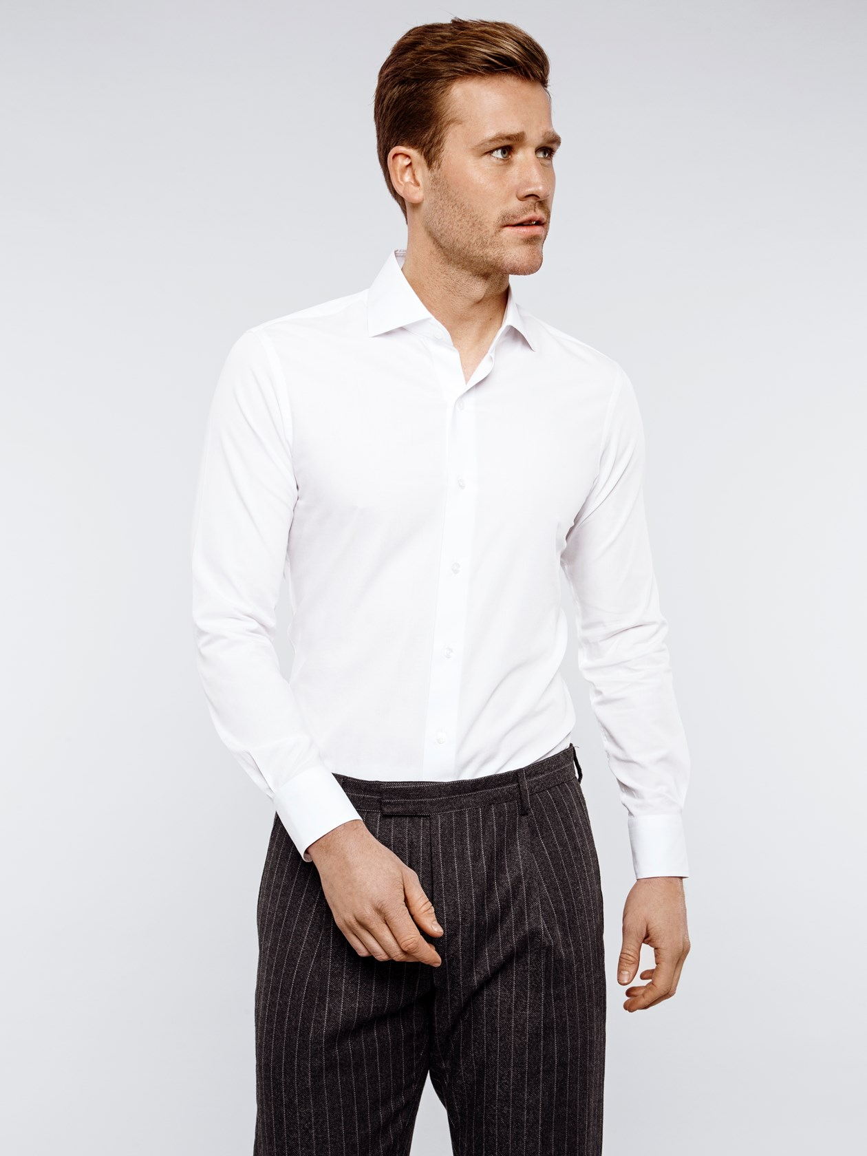 Bamboo Cotton - White Shirt