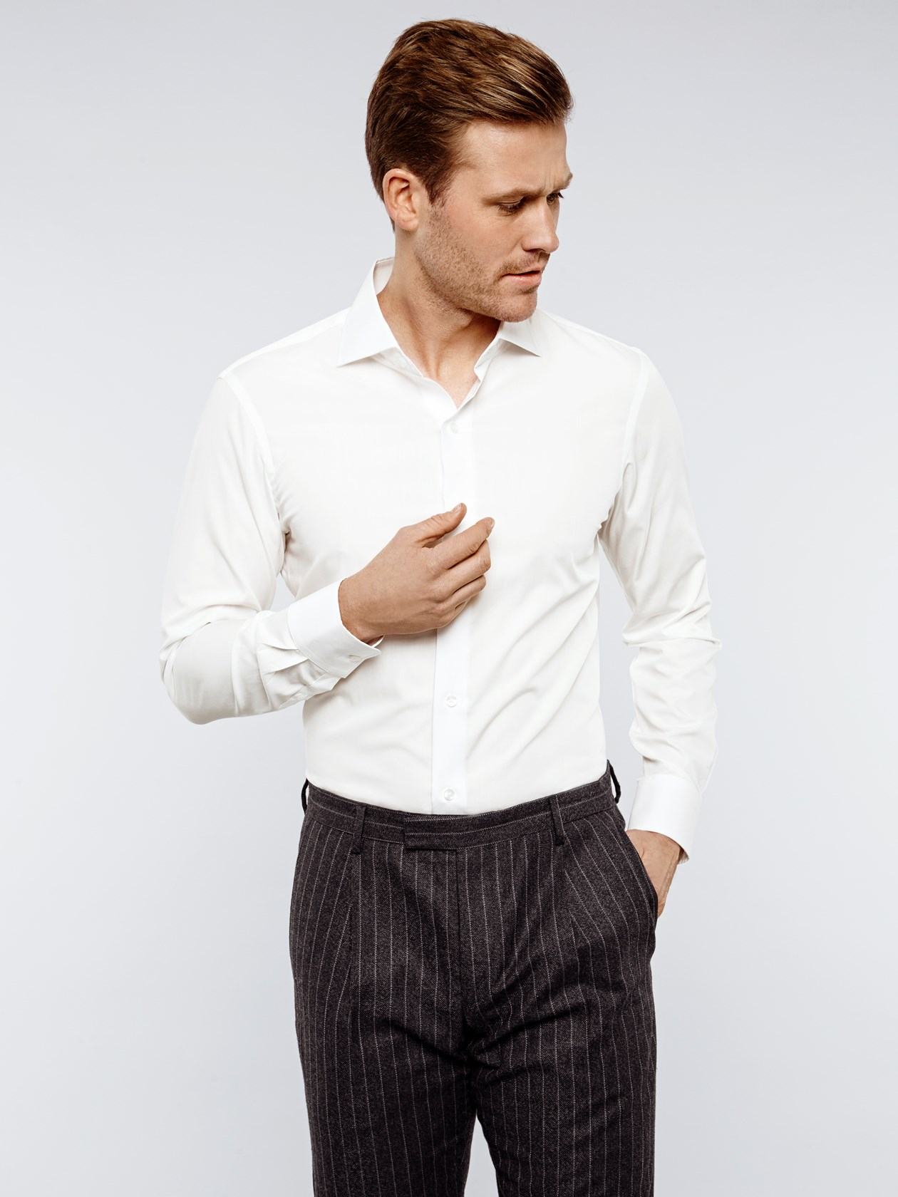 Bamboo Cotton - Off-White Shirt